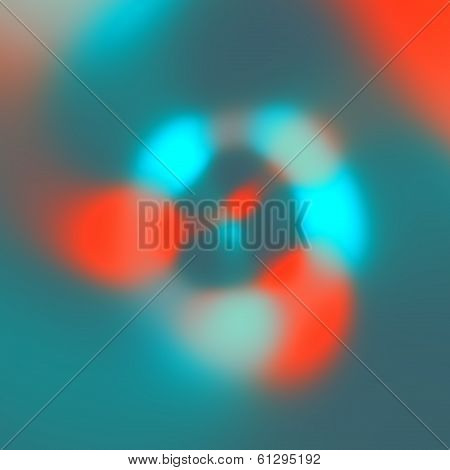 Simple Abstract Blue Orange Blurry Lights