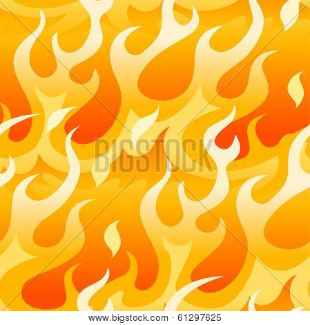 Bright Orange Flames.