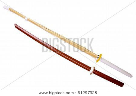 Wooden training swords
