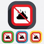 foto of feces  - No Feces sign icon - JPG