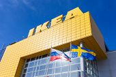 Samara, Russia - March 9, 2014: Ikea Samara Store. Ikea Is The World's Largest Furniture Retailer An