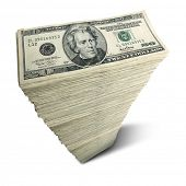 foto of twenty dollar bill  - Stack of twenty - JPG
