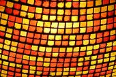 foto of light fixture  - Close up of a stained glass lighting fixture  - JPG