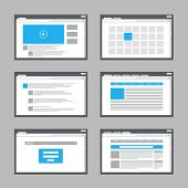 web site page templates collection