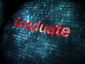 Education concept: Graduate on digital background