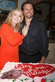 LOS ANGELES - MAR 4:  Melody Thomas Scott, Joshua Morrow at the Melody Thomas Scott Celebrates 35 Ye