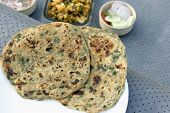 pic of fenugreek  - Methi Paratha  - JPG