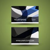 Business Card with Abstract Pattern