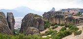 foto of trinity  - The famous greek mountains Meteora with Holy Trinity monastery - JPG