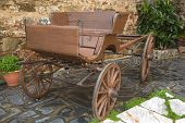 pic of old spanish trail  - Old wooden coach vintage scene Badajoz Spain - JPG