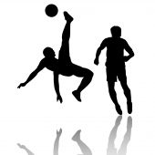 Football player-Soccer player-Bicycle kick