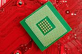 stock photo of microprocessor  - Microprocessor on Circuit  - JPG