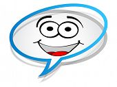 stock photo of fanny  - fanny chat icon - JPG