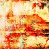 art abstract acrylic background in white, yellow and red colors