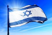 stock photo of democracy  - This is an illustration of flag of Israel - JPG