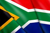 stock photo of zulu  - This is an illustration of flag of South Africa - JPG