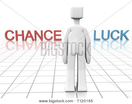 Making Decision Of Chance Or Luck Concept