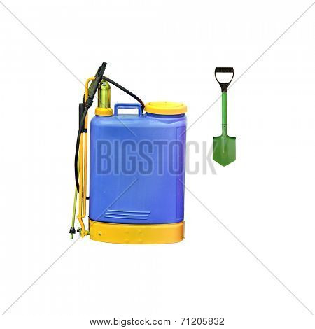 The image of a blue sprayer