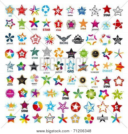 Biggest Collection Of Vector Icons Five-pointed Stars