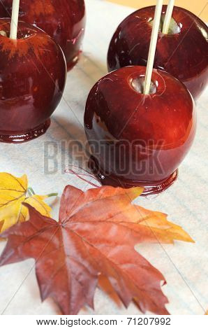 Happy Halloween Homemade Caramel Toffee Apple Candy