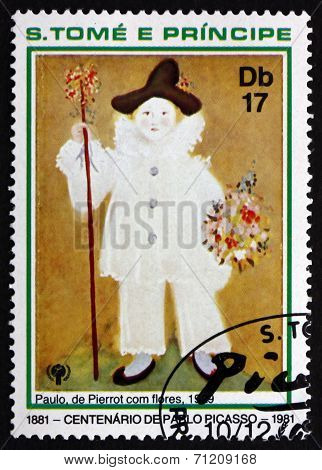 Postage Stamp Sao Tome And Principe 1981 Painting By Pablo Picas