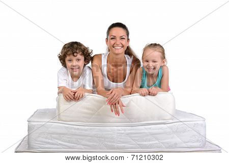 Family And Many Mattresses