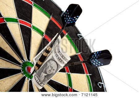 Bullseye business concept