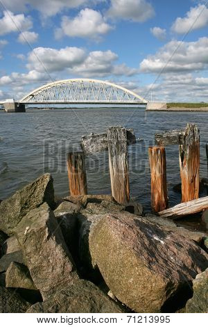 Aggersund bridge in Denmark
