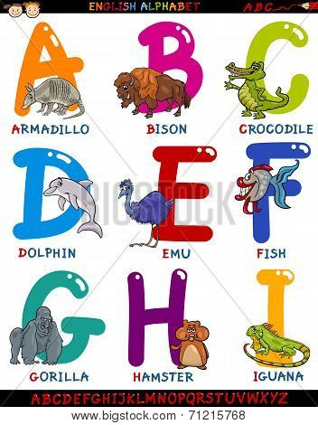 Cartoon English Alphabet With Animals