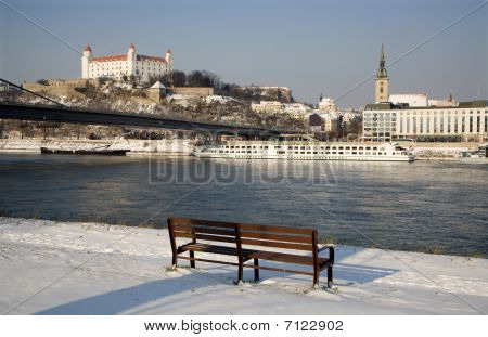 Bratislava - Castle in winter