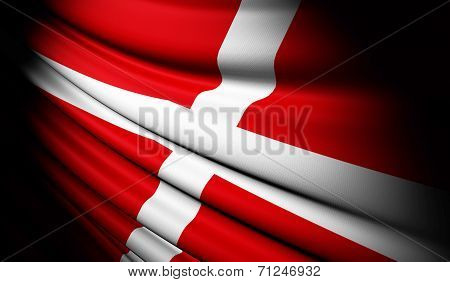 Sovereign Military Order Of Malta Flag Waving On The Wind
