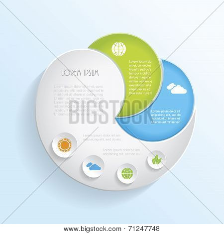 Modern Vector Ecology Infographic Template Design