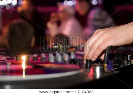 Dj Playing Vinyl