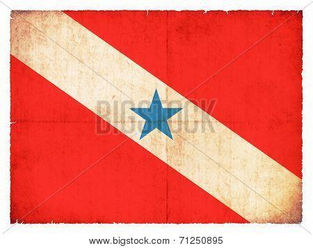 Grunge Flag Of Para (brazil)