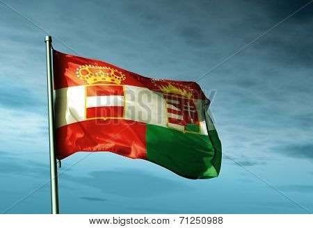 Austria-hungary (1867-1918) Flag Waving On The Wind