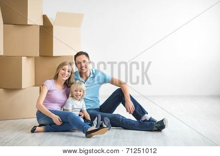 Family with a child at home