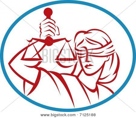 Lady holding up scales of justice