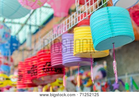 Lanterns for sale at Chinatown, Saigon, Vietnam.