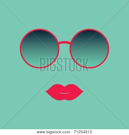 Sunglasses And Lips