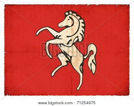 Grunge Flag Of Kent (great Britain)