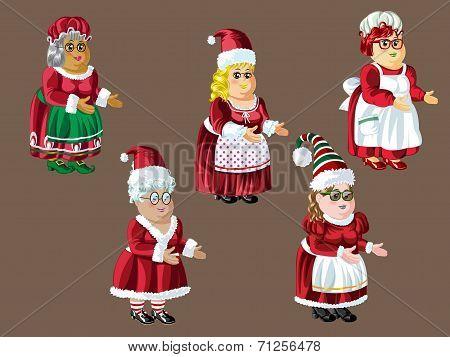 Santa Women with Nice Dress Up