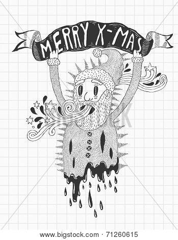 psychedelic Santa doodle