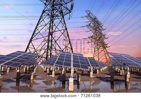 Photovoltaic Solar And Power Tower