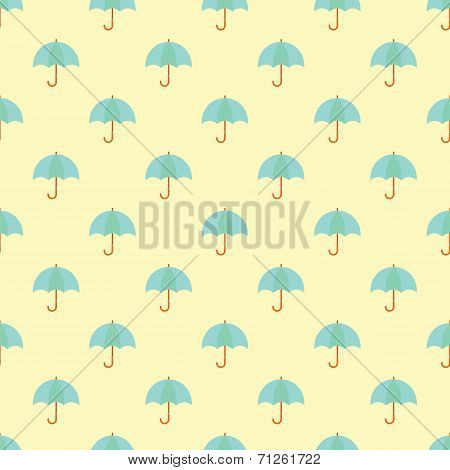 Umbrella Seamless Pattern  Background