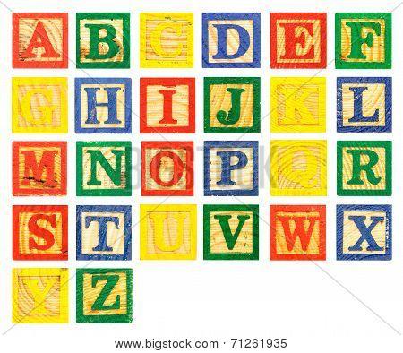 Abc Wooden Alphabet Block Paint Colorful