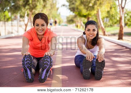 Cute Runners Stretching