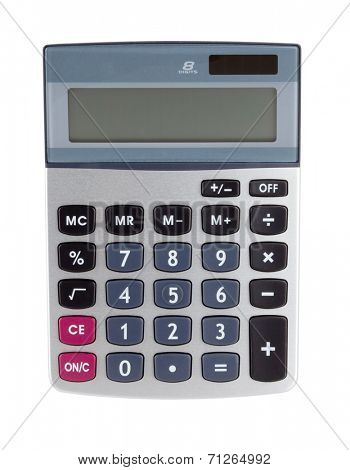 Digital calculator. Isolated on white backgound