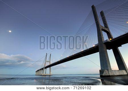 Vasco Da Gama Bridge By Night
