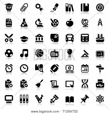 Flat School Iconset With Reflex