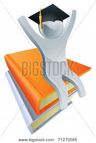 Graduate On Giant Books